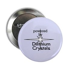 "Powered By Dilithium Crystals 2.25"" Button"