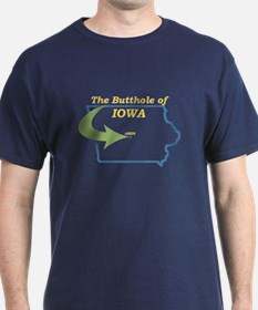 Butthole of Iowa Dark T's T-Shirt