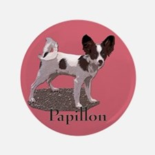 """Papillon Breed 3.5"""" Button"""