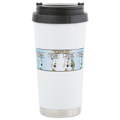 WTD: The Creative Cycle Stainless Steel Travel Mug