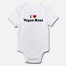 I Love Vegan Boys Infant Bodysuit