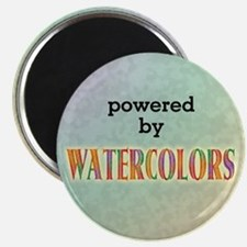 Powered By Watercolors Magnet
