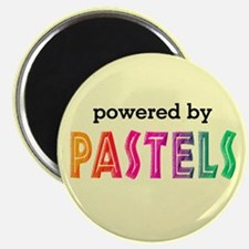 Powered By Pastels Magnet