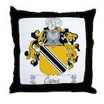 Capua Family Crest Throw Pillow