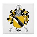 Capua Family Crest Tile Coaster