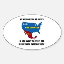 GET IN LINE Oval Decal