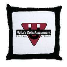 Bella's Risk Assessment Throw Pillow