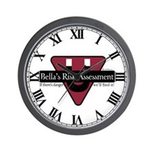 Bella's Risk Assessment Wall Clock