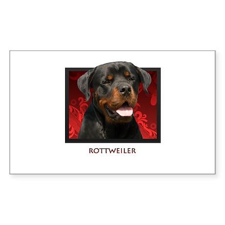 Rottweiler Rectangle Sticker