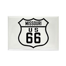 Route 66 Old Style - MO Rectangle Magnet
