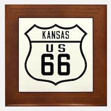 Route 66 Old Style - KS Framed Tile