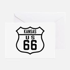 Route 66 Old Style - KS Greeting Cards (Pk of 10)