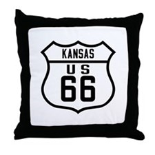 Route 66 Old Style - KS Throw Pillow