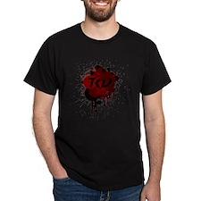 TKD Splatter Dark Red T-Shirt