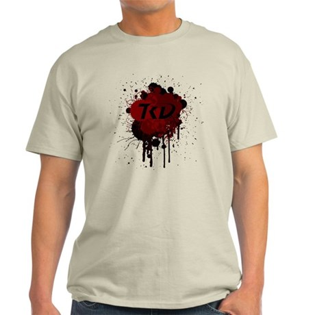 TKD Splatter Dark Red Light T-Shirt