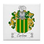 Carbone Family Crest Tile Coaster