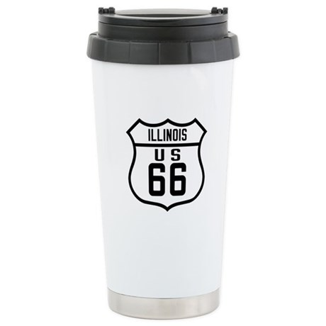 Route 66 Old Style - IL Stainless Steel Travel Mug