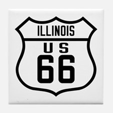 Route 66 Old Style - IL Tile Coaster
