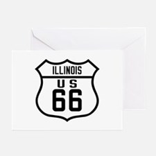 Route 66 Old Style - IL Greeting Cards (Pk of 10)