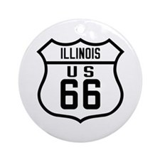 Route 66 Old Style - IL Ornament (Round)