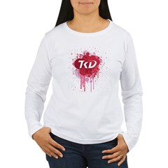 TKD Splatter Pink Women's Long Sleeve T-Shirt