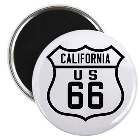 """Route 66 Old Style - CA 2.25"""" Magnet (10 pack)"""