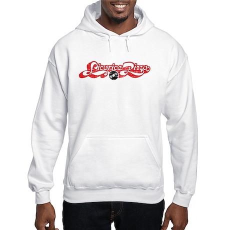 Licorice Pizza Distressed Hooded Sweatshirt