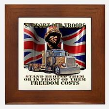 Support our British Troops Framed Tile
