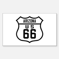 Route 66 Old Style - AZ Rectangle Decal