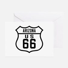 Route 66 Old Style - AZ Greeting Cards (Pk of 10)