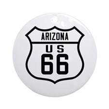 Route 66 Old Style - AZ Ornament (Round)