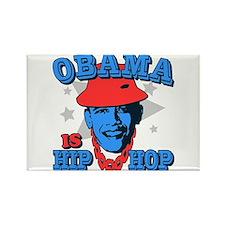 Obama is Hip Hop Rectangle Magnet