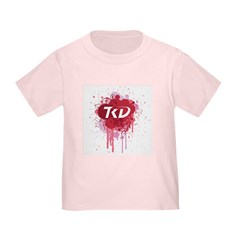 TKD Splatter Pink T