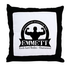 Personal Training by Emmett Throw Pillow