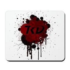 TKD Splatter Dark Red Mousepad