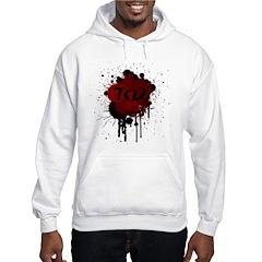 TKD Splatter Dark Red Hooded Sweatshirt