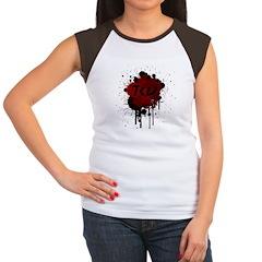 TKD Splatter Dark Red Women's Cap Sleeve T-Shirt