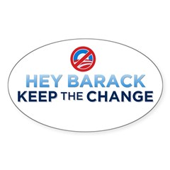 Keep the Change Oval Decal