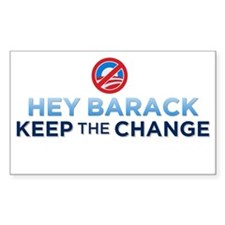 Keep the Change Rectangle Decal
