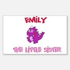 Emily - Dinosaur Sister Rectangle Decal