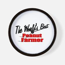 """""""The World's Best Peanut Farmer"""" Wall Clock"""