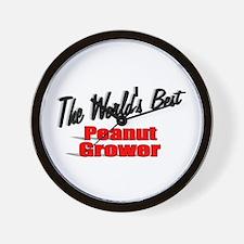 """The World's Best Peanut Grower"" Wall Clock"