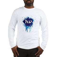 TKD Splatter Blue Long Sleeve T-Shirt