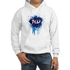 TKD Splatter Blue Hoodie