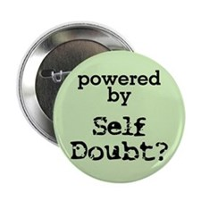 "Powered By Self Doubt 2.25"" Button"
