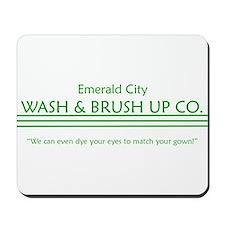 emerald city wash and brush u Mousepad