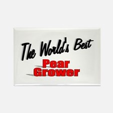 """""""The World's Best Pear Grower"""" Rectangle Magnet"""