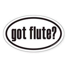got flute? Euro Oval Decal