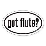 got flute? Euro Oval Sticker