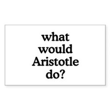Aristotle Rectangle Decal